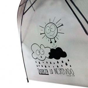 paraguas publicitarios transparente