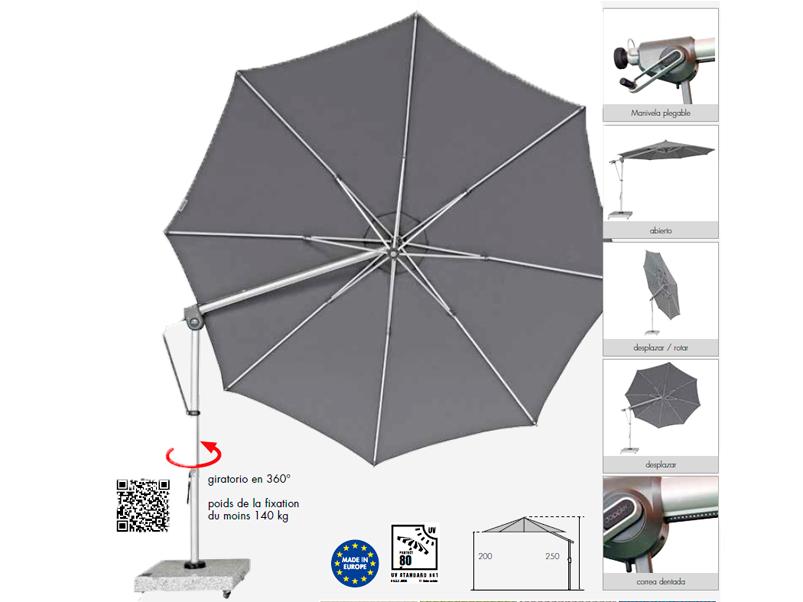 Parasoles con protección solar - Paraguas Doppler