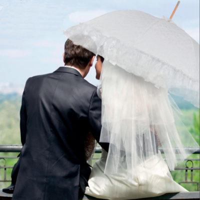 Paraguas de boda