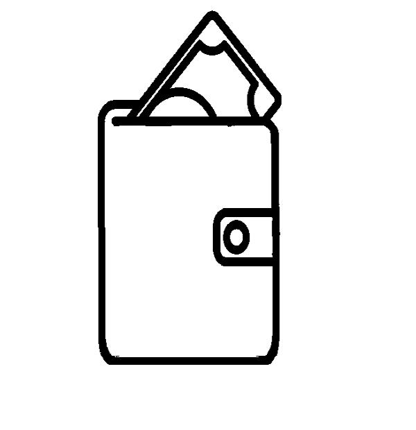 cartera minimalista de piel