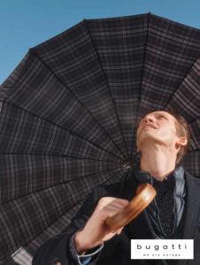 paraguas de marca bugatti para hombre